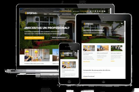 Diseño páginas web adaptado a dispositivos móviles y tablets