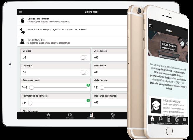 Diseño tienda online, calcula tu presupuesto con nuestra app gratuita